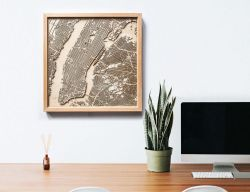 CityWood Minimal 3D Wooden Map For Map Lovers