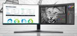 三星 SAMSUNG 48.9英寸超级大屏 C49HG90DMC 电竞显示器,144Hz刷新曲面,HDR 量子点技术