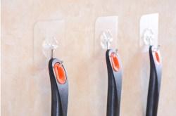 强力粘胶不锈钢承重挂钩,厨房墙壁挂衣钩