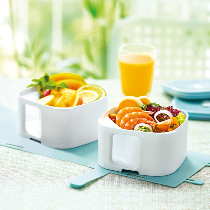 VISIONS 康宁 Snapware 马卡龙系列双层轻食便当盒,OL午餐饭盒