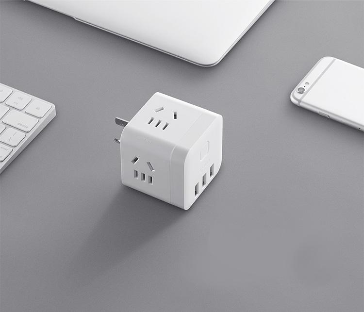 公牛 BULL 魔方智能USB插座 GN-U303UW 白色无线魔方