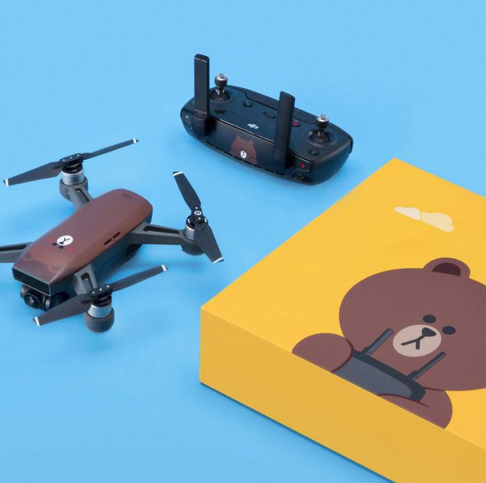 DJI LINE FRIENDS (BROWN) Spark RC Combo Mini Drone