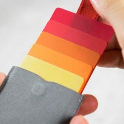 层叠式创意抽拉卡包,超薄随身钱包
