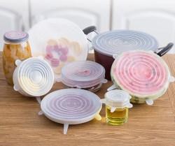 硅胶保鲜盖6件套,密封食品级家用保鲜膜盖子