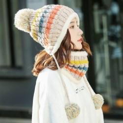 秋冬季韩版潮百搭甜美可爱针织毛线帽