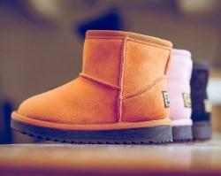 DOUBLE STAR/双星 儿童雪地靴,保暖防滑长绒毛内里,柔软橡胶底