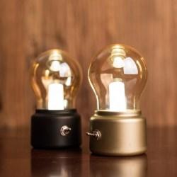 Janpim复古灯泡灯,LED小夜灯小台灯创意灯