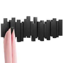 Umbra创意钢琴键墙壁挂衣架,五组可翻弹挂钩