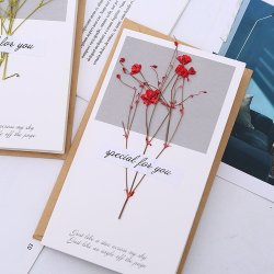 Dry Flower Greeting Cards