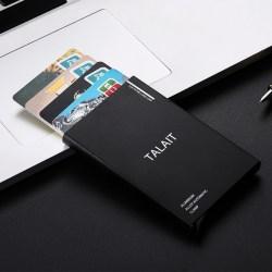 TALAIT/塔莱途 铝合金自动式屏蔽卡套,防盗刷卡套,6卡位
