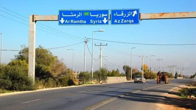 Autobahn in Jordanien