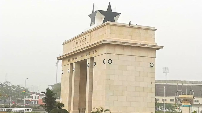 Independence-Arch in Accra Ghana