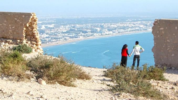 Ausblick von der Kasbah in Agadir