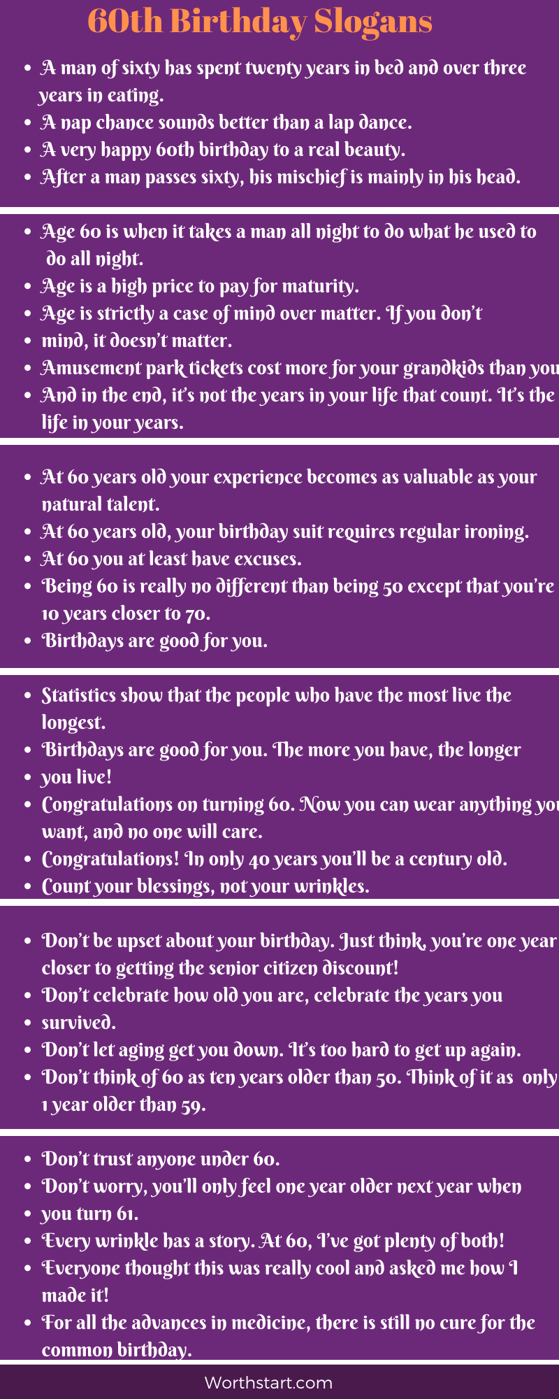 60th Birthday One Liners : birthday, liners, Birthday, Slogans:, Funny, Sayings