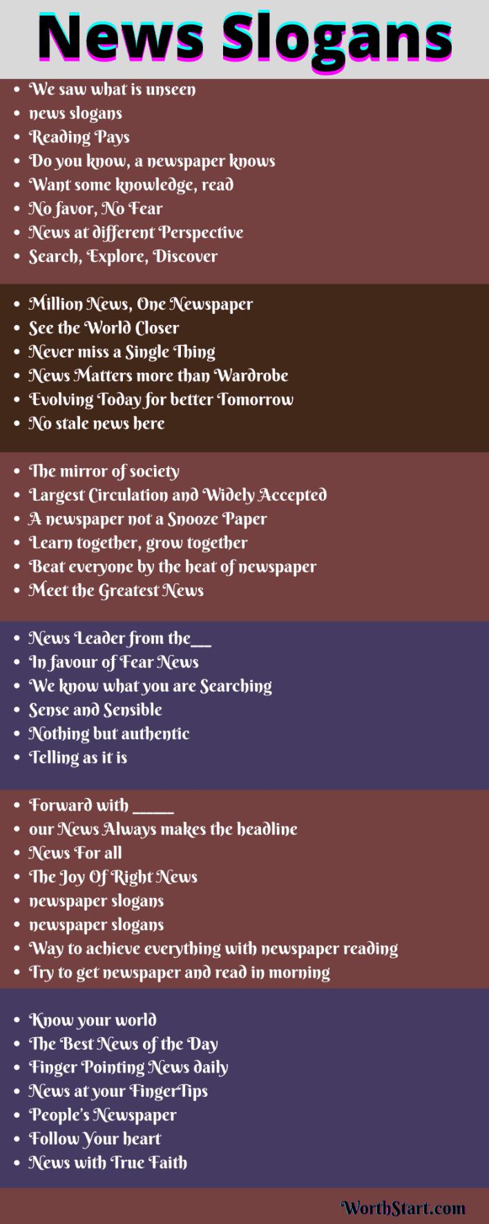 News Slogans
