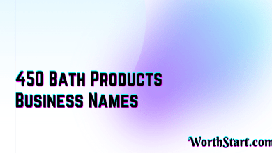 Bath Products Business Names Ideas