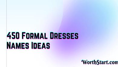 Formal Dresses Names Ideas