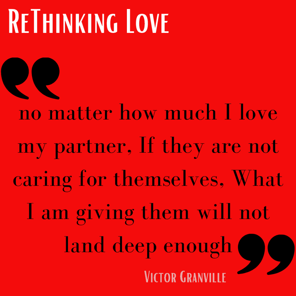 Red background text Text:Love won't land deep enough