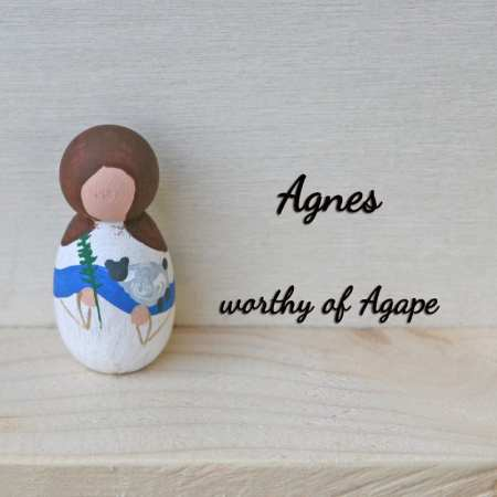 Agnes keychain