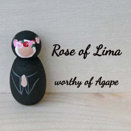 Saint Rose of Lima keychain