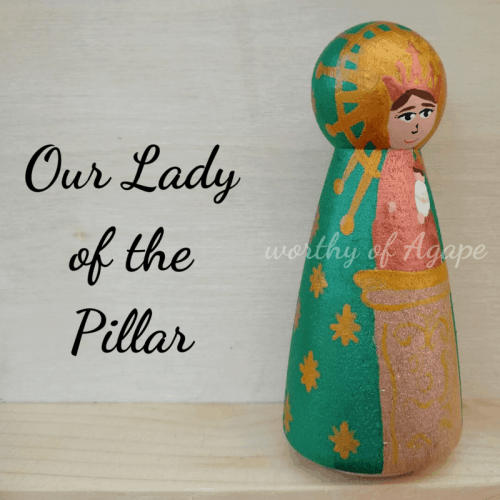 Our Lady of the Pillar single peg half side