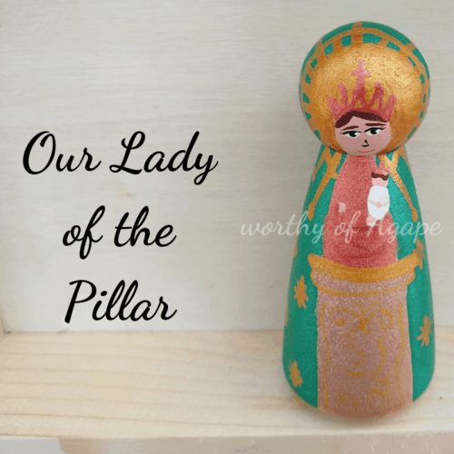 Our Lady of the Pillar single peg top