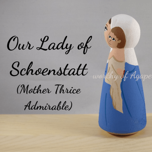 Our Lady of Schoenstatt mother thrice admirable Jesus side