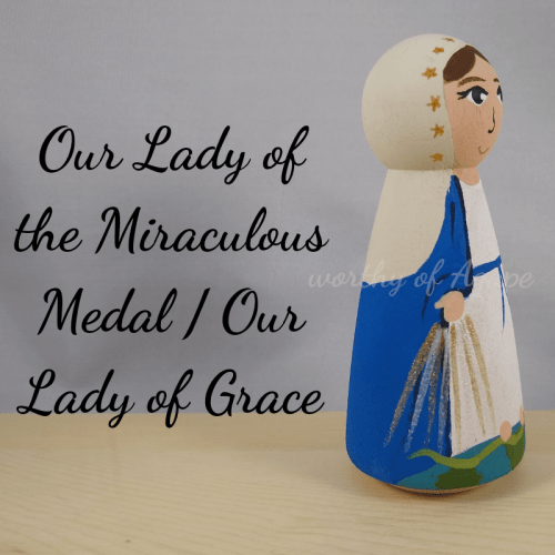 Our Lady of the Miraculous Medal Our Lady of Grace side