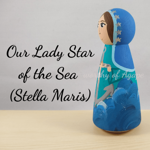 Our Lady Star of the Sea Stella Maris crucifix side 2