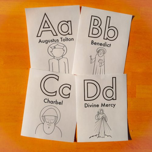 male flash cards square abcd