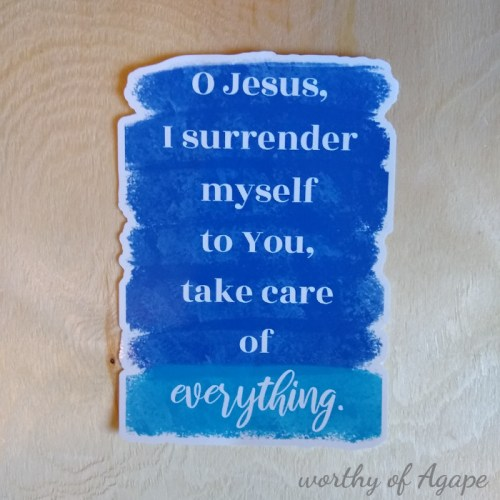 Surrender prayer cling new