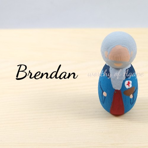 Brendan keychain ornament top