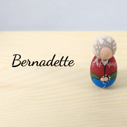 Bernadette keychain ornament top