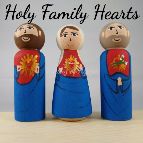 Holy Family Hearts newest looking up