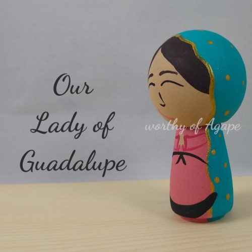 Our Lady of Guadalupe side 2 kokeshi