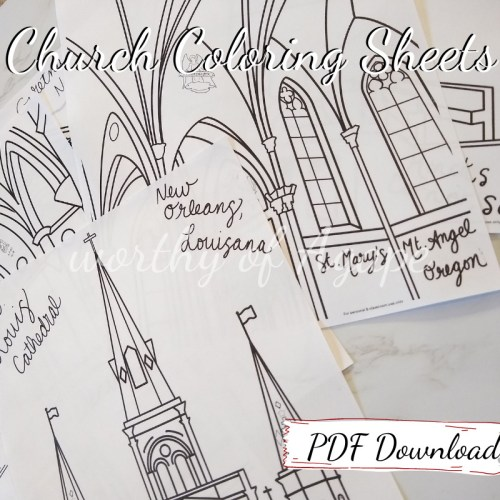church coloring sheets PDF download all together