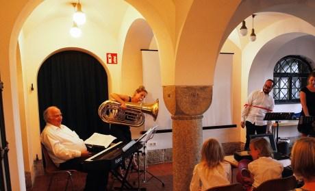 """Molto Giocoso Live in der """"Lindenhofvilla"""" in Blaustein-Herrlingen, August 2016. Foto: Reutter"""