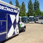 Worxpace Pro demo service truck at Belgian Bus Repair