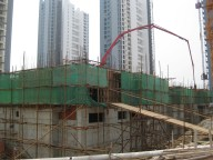 Construction in downtown Feng Cheng