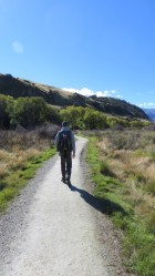 Walking around Lake Hayes, which is just outside Queenstown.