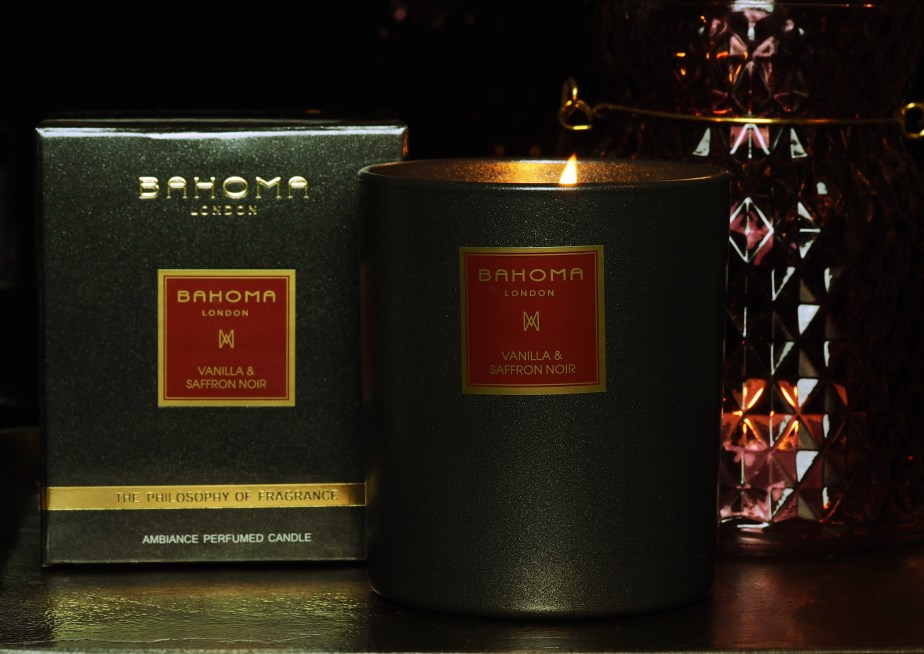 Świeca Bahoma Vanilla & Saffron Noir