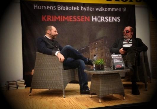 Jannik Lunn og jeg i samtale om 'Odins labyrint. Helt sikkert mit bedste interview indtil nu.