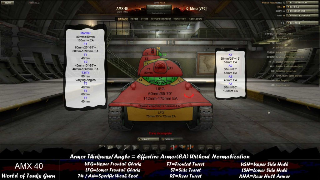 Play AMX 40 Matchmaking thinks you're a scout - World of Tanks