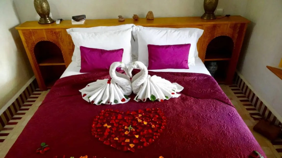 Romantic bed in Marrakech