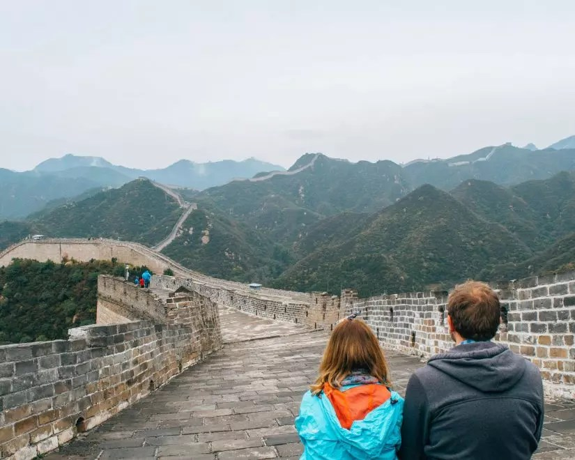 Would Be Traveller - The Great Wall of China Couple