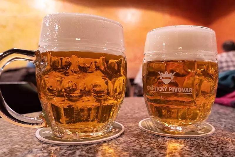 Would Be Traveller Vegetarian food in Prague Beer