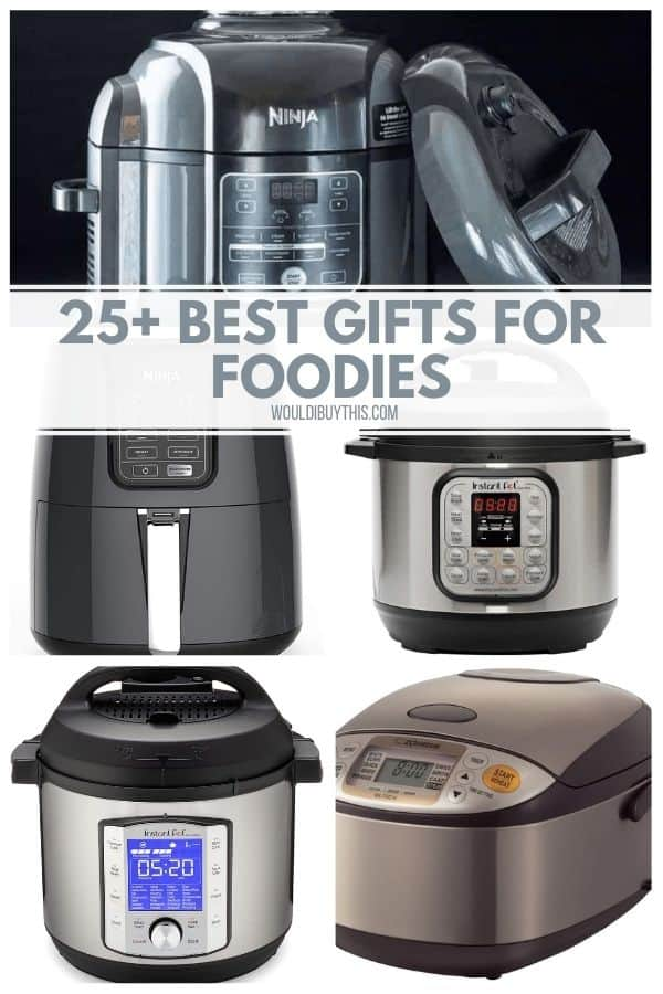 Collage of 5 of the best gifts for foodies