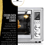 Cosori Oven Air Fryer Combo with black side bar and text