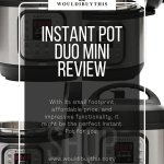 Instant Pot Duo Mini Review four images image with white background and text