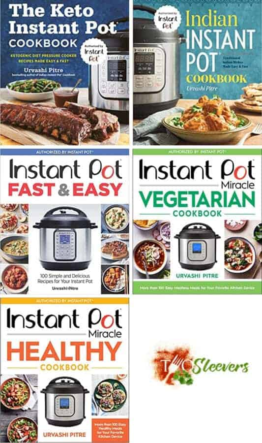 Covers for 5 Instant Pot Cookbooks